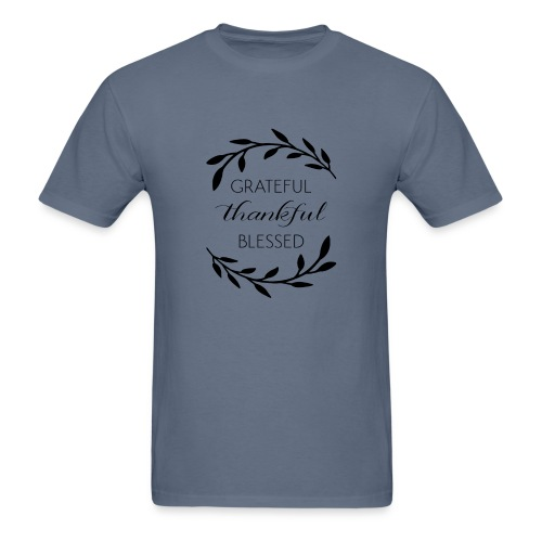 Grateful thankful Blessed custom items - Men's T-Shirt