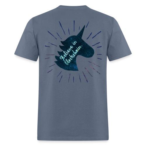 Believe in Blockchain Unicorn - Men's T-Shirt