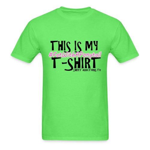 CandyT2text png - Men's T-Shirt