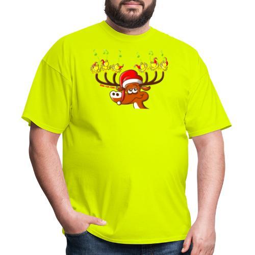 Birds' and Deer's Christmas Concert - Men's T-Shirt