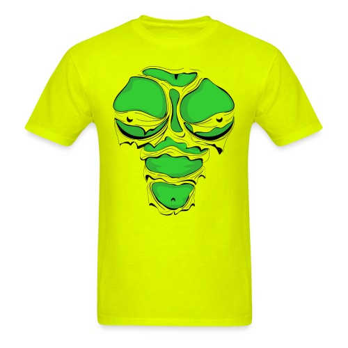 Ripped Muscles Female Green, chest T-shirt, - Men's T-Shirt