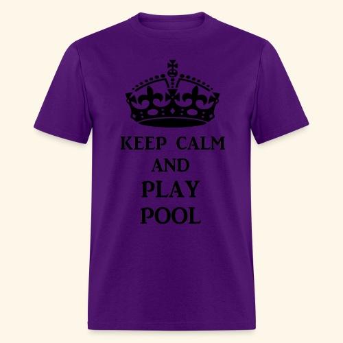 keep calm play pool blk - Men's T-Shirt