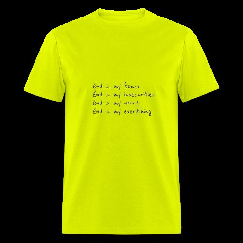 He is Greater - Men's T-Shirt