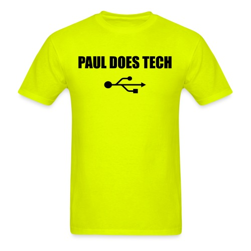 Paul Does Tech Logo Black with USB - Men's T-Shirt