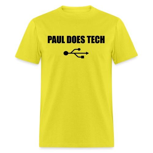 Paul Does Tech Logo Black with USB - Men's T-Shirt