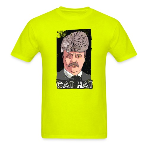 cat hat png copy - Men's T-Shirt
