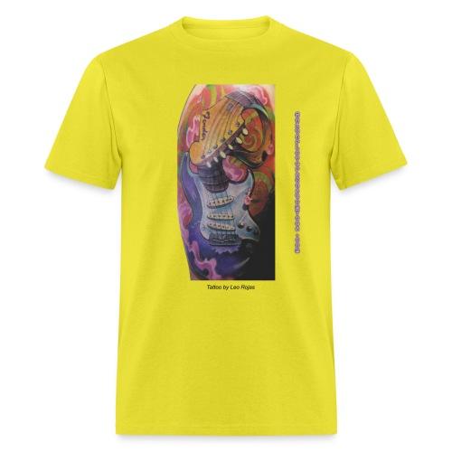 GuitarTattoo by GuitarLoversCustomTees png - Men's T-Shirt