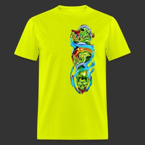 see no evil skulls png - Men's T-Shirt