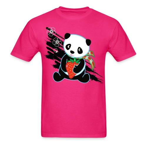 Cute Kawaii Panda T-shirt by Banzai Chicks - Men's T-Shirt
