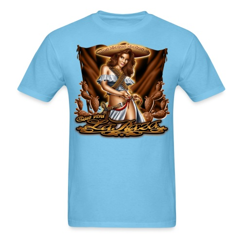 Que Viva La Raza by RollinLow - Men's T-Shirt