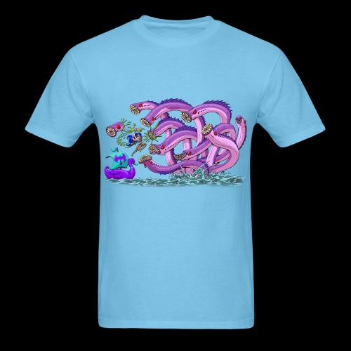 Axel The Mighty and the Lamprey Hydra - Men's T-Shirt
