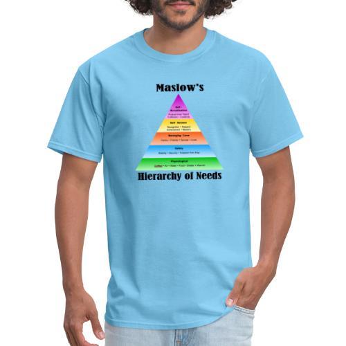 Male Restroom Etiquette: Hierarchy of Needs - Men's T-Shirt