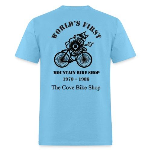 The Cove Bike Shop VIKING on back - Men's T-Shirt
