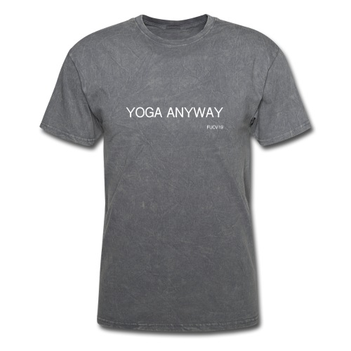 YOGA WHITE font - Men's T-Shirt