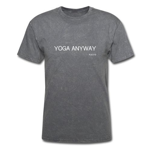 YOGA WHITE font - Men's T-Shirt