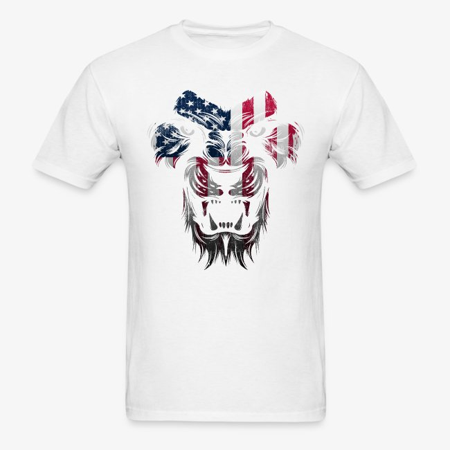 American Flag Lion Shirt