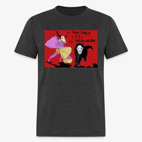 EL GUAPO DIABLO LVS. EL PERRO NEGRO - Men's T-Shirt