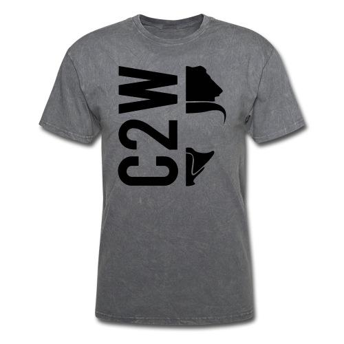 C2W Split Logo - Black - Premium Tee - Men's T-Shirt