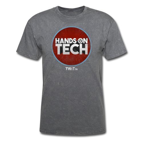 Hands-On Tech Album Art Distressed - Men's T-Shirt