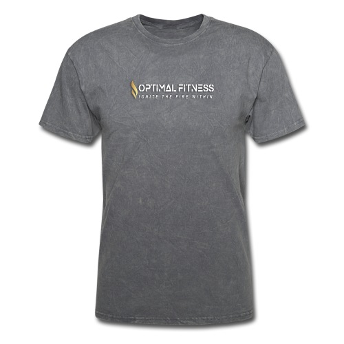 white logo transparent with gold flame - Men's T-Shirt