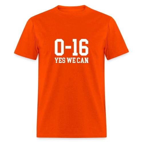 Detroit Lions 0 16 Yes We Can - Men's T-Shirt