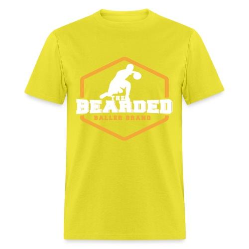 The Bearded Baller Brand White and Gold - Men's T-Shirt