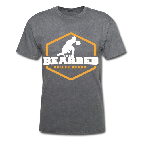 The Bearded Baller Brand White and Gold - Men's T-Shirt
