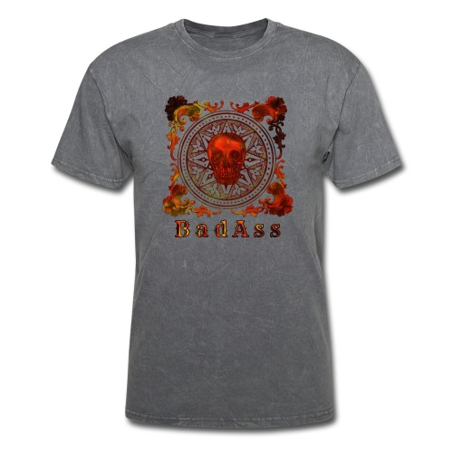Skull on Mandala Badass - Men's T-Shirt
