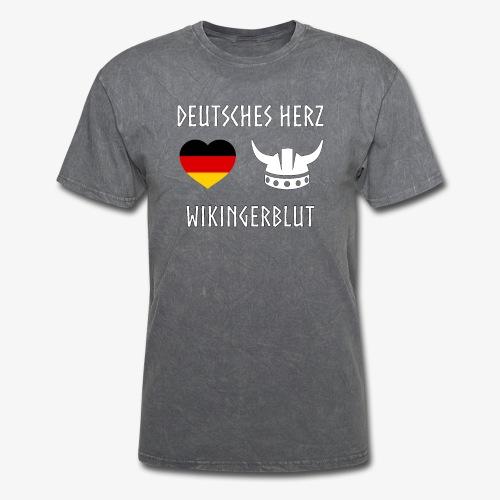 Deutsches Herz Wikinger Blut - Men's T-Shirt