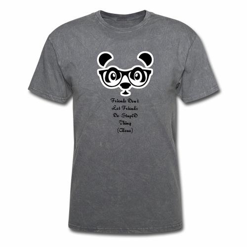 DirtyRagz Men's WWF Funny Panda Bear Wrestling T S - Men's T-Shirt