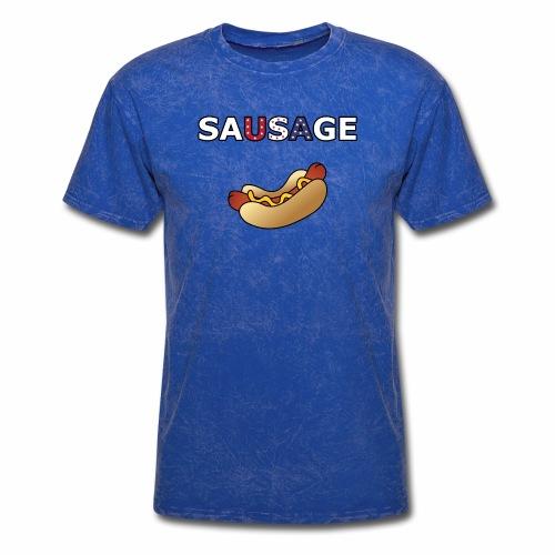 Patriotic BBQ Sausage - Men's T-Shirt