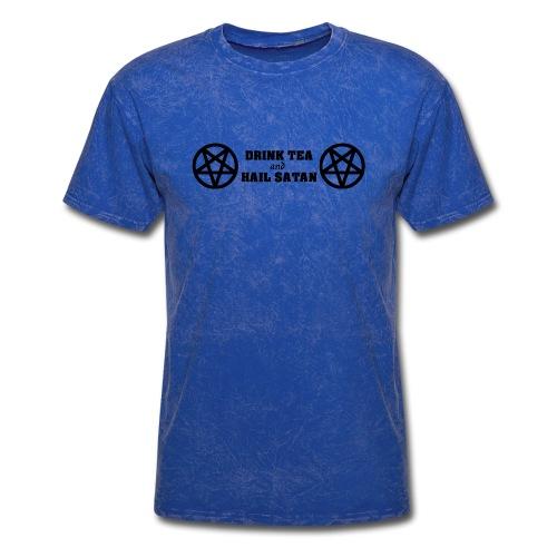 Drink Tea And Hail Satan - Men's T-Shirt