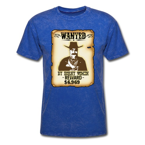 Cowboy Ox-Mad Wanted Poster! - Men's T-Shirt