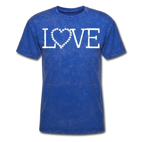 LOVE irish shamrocks - Men's T-Shirt