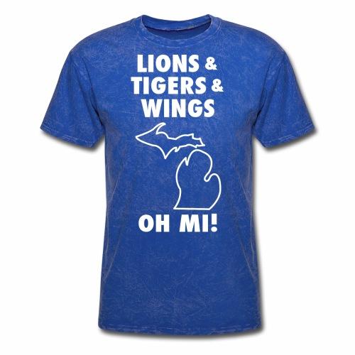 LIONS & TIGERS & WINGS, OH MI! - Men's T-Shirt