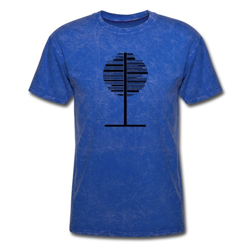 Circle black and white Tree - Men's T-Shirt