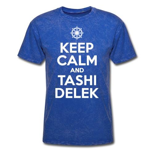 Keep Calm and Tashi Delek Tibet Dharma Wheel - Men's T-Shirt