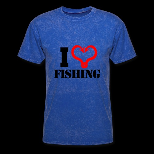 02 I heart fishing BLACK - Men's T-Shirt