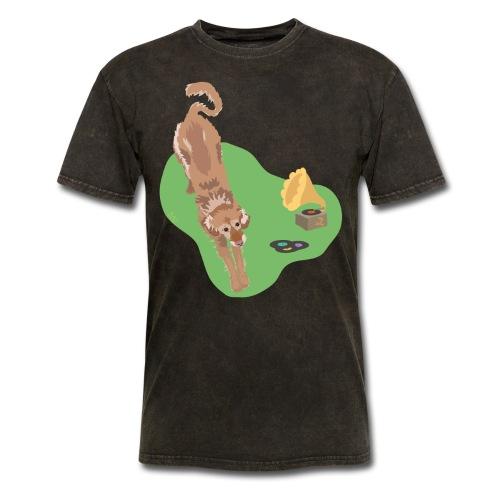 Golden Retriever Music - Men's T-Shirt
