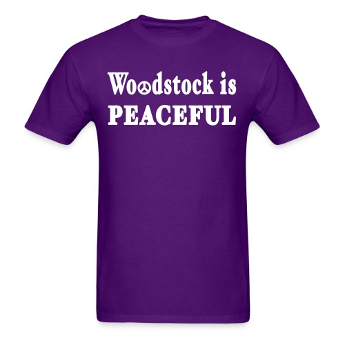 New York Old School Woodstock is Peaceful - Men's T-Shirt
