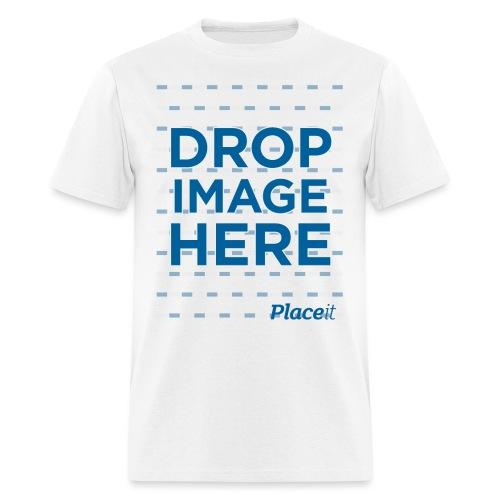 DROP IMAGE HERE - Placeit Design - Men's T-Shirt