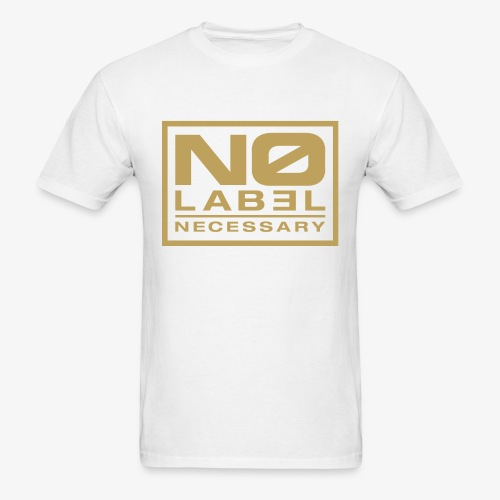 No Label Necessary Gold Logo - Men's T-Shirt