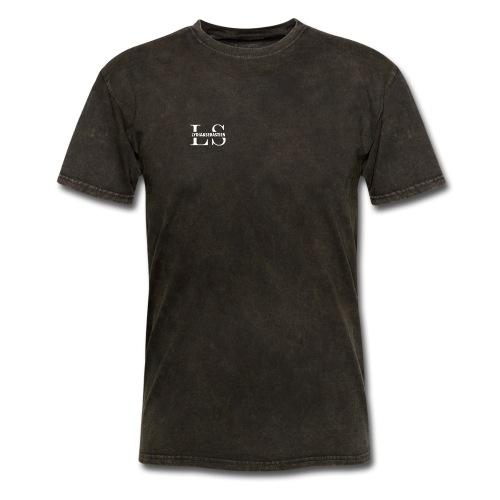 Lydia&Sebastien Logo White - Men's T-Shirt