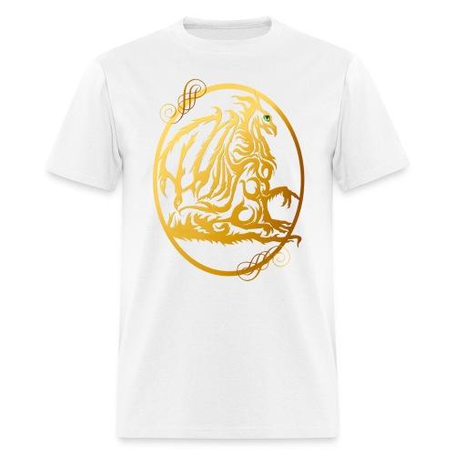 Gold Dragon Oval Design - Men's T-Shirt