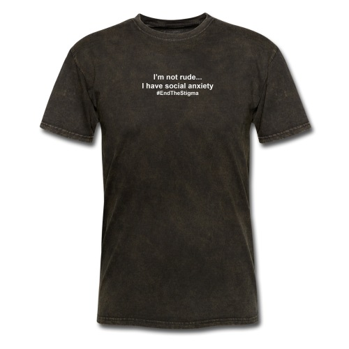 I'm Not Rude I Have Social Anxiety Black - Men's T-Shirt