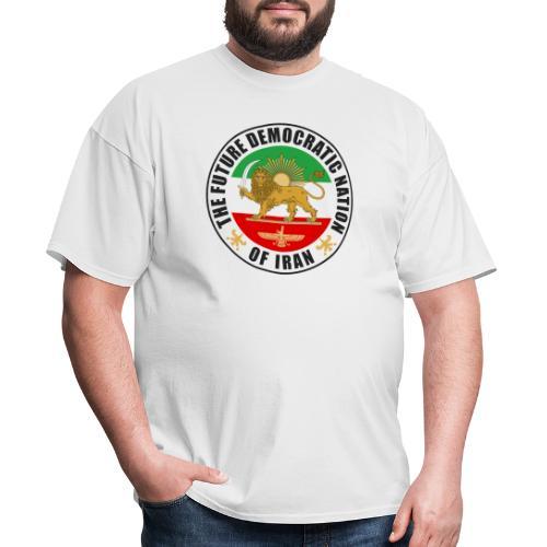 Iran Emblem Old Flag With Lion - Men's T-Shirt