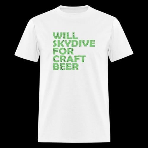 skydive for craft beer - Men's T-Shirt