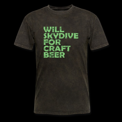 skydive for craft beer - Men's T-Shirt