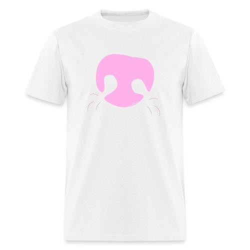 Pink Whimsical Dog Nose - Men's T-Shirt