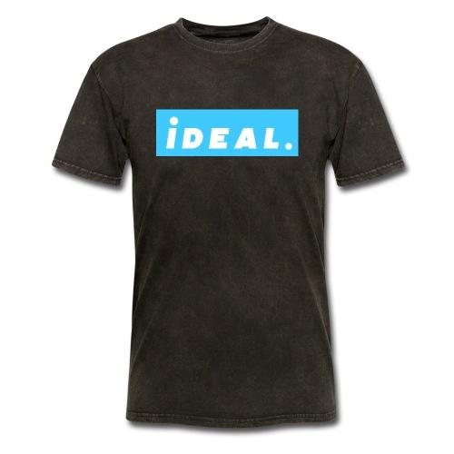 rare ideal blue logo - Men's T-Shirt